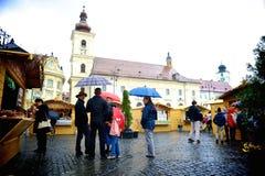Mercato di Pasqua a Sibiu Fotografie Stock Libere da Diritti