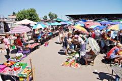 Mercato di Poltava, Ucraina - 5 agosto 2015 immagine stock