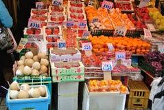 Mercato di prodotti freschi giapponese Fotografia Stock Libera da Diritti