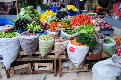 Mercato di prodotti freschi nel Perù Fotografia Stock Libera da Diritti