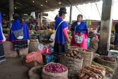 Mercato di prodotti indigeno in Colombia immagine stock