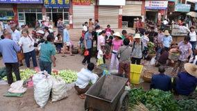 Mercato di prodotto di fattoria nella zona rurale Immagini Stock