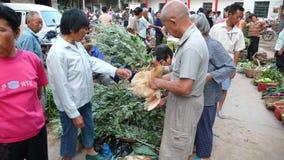 Mercato di prodotto di fattoria nella zona rurale Fotografia Stock Libera da Diritti