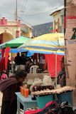 Mercato di Quichua a Guamote, Ecuador Immagine Stock