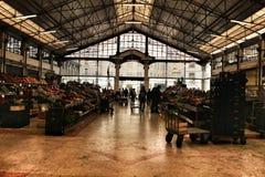 Mercato di Ribeira a Lisbona, Portogallo fotografie stock libere da diritti