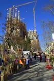 Mercato di Sagrada Familia Placa, Barcellona immagine stock