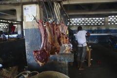 Mercato di Sambava nel Madagascar Fotografie Stock Libere da Diritti