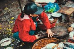 Mercato di sedere di Dong dentro, tonalità, Vietnam fotografia stock