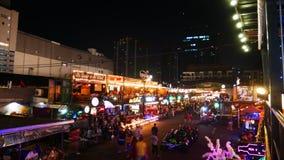 Mercato di strada di camminata in Tailandia Fotografie Stock