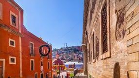 Mercato di strada Church Alhondiga de Granaditas Guanajuato Messico Immagini Stock