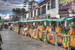 Mercato di strada del tibetano di Lhasa Immagine Stock