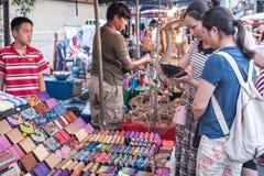 Mercato di strada di camminata Wualai Fotografie Stock