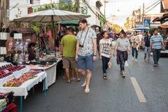 Mercato di strada di camminata Wualai Immagini Stock Libere da Diritti