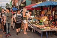 Mercato di strada di camminata Wualai Fotografia Stock
