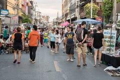Mercato di strada di camminata Wualai Immagini Stock