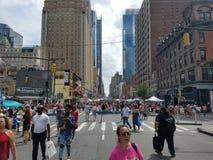 Mercato di strada di fine settimana NYC fotografia stock libera da diritti