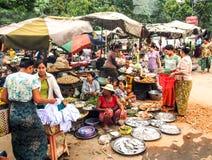 Mercato di strada 1 di Mandalay Fotografia Stock Libera da Diritti