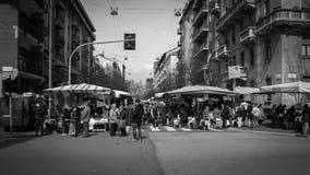 Mercato di strada di Milano Immagini Stock Libere da Diritti