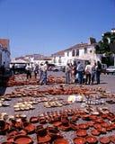 Mercato di strada, Evora Fotografie Stock