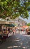 Mercato di strada fatto a mano Immagini Stock Libere da Diritti