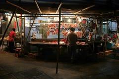 Mercato di strada (mercato bagnato) vicino alla st del tempio Fotografia Stock Libera da Diritti