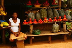 Mercato di strada nell'Uganda Fotografia Stock Libera da Diritti