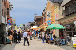 Mercato di strada Wajima Ishukawa Giappone Fotografia Stock