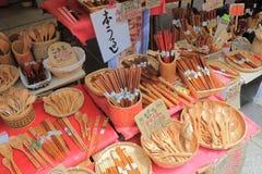 Mercato di strada Wajima Ishukawa Giappone Immagine Stock Libera da Diritti