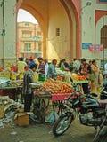 Mercato di una città indiana antica Fotografia Stock Libera da Diritti