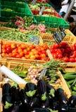 Mercato di verdure del giorno di estate Fotografie Stock Libere da Diritti