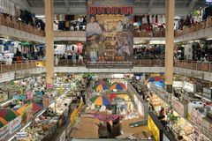 Mercato di Warorot in Chiang Mai, Tailandia Fotografie Stock Libere da Diritti