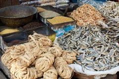 Mercato e spezie della drogheria Fotografia Stock Libera da Diritti