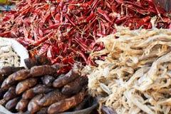 Mercato e spezie della drogheria Fotografia Stock