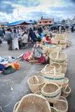 Mercato ecuadoriano indigeno Fotografia Stock