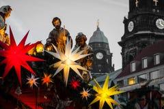 Mercato famoso di Natale di Dresda immagini stock