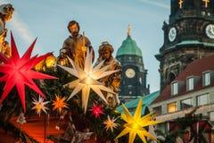 Mercato famoso di Natale di Dresda fotografie stock libere da diritti