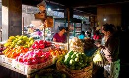 Mercato famoso di Ubud, Bali Fotografia Stock Libera da Diritti