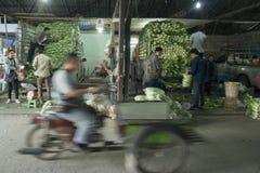MERCATO FEGETABLE DELLA TAILANDIA CHIANG RAI Fotografia Stock