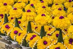 Mercato floreale a Bangkok, Tailandia Fotografie Stock Libere da Diritti