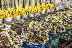 Mercato floreale a Bangkok, Tailandia Fotografia Stock