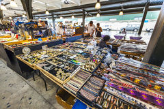 Mercato francese sulla via di Decatur a New Orleans Immagine Stock Libera da Diritti
