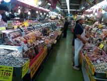 Mercato fresco dei frutti di mare nel Giappone Fotografia Stock