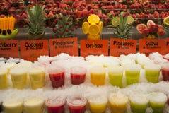 Mercato fresco del succo Fotografia Stock