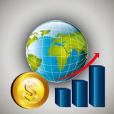 Mercato globale e borsa valori Fotografia Stock Libera da Diritti