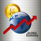 Mercato globale e borsa valori Immagine Stock Libera da Diritti