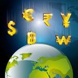 Mercato globale e borsa valori Fotografie Stock