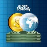 Mercato globale e borsa valori Fotografie Stock Libere da Diritti