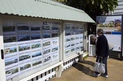 Mercato immobiliare della Nuova Zelanda Fotografia Stock Libera da Diritti
