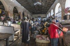 Mercato ittico in città di pietra Immagine Stock