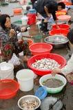 Mercato ittico del bordo della strada Fotografia Stock Libera da Diritti